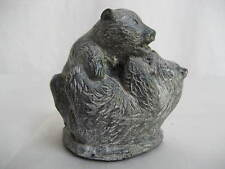 """""""The Wolf Sculptures"""" Two Bear Cubs Hand made in Canada """"A Wolf Original"""""""