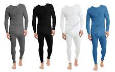 Men's Heat Control Thermal Long Sleeve T-Shirts & Long John Set Winter Underwear