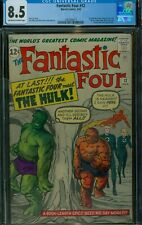 Fantastic Four #12 CGC 8.5 Offwhite-White Pages UNRESTORED 1st Hulk Crossover