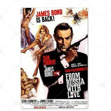 PLAQUE MÉTAL FILM JAMES BOND 007 30 X 20 CM
