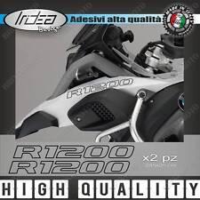 2 ADESIVI SERBATOIO STICKERS MOTO BMW R 1200 GS ADVENTURE LC NERO