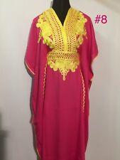 Moroccan Kaftan Caftan Maxi Dress Embroidery Batwing Arabian Butterfly Farasha