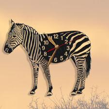 Big Zebra Holz Wanduhr 35cm, groß, Tiere, Wanddekor Uhr #67