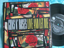 Guns N' Roses Live And Let Die Geffen Records GFS 17 ‎UK 7inch Vinyl Single