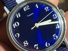 Vintage 1972 Timex Mercury Series Mechanic Men's Watch Serviced New Strap