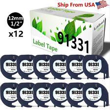 12 Pk Dymo Letratag Refill 91331 Label Tape Lt 100t Plus Lt 100h Plus Lt 100t