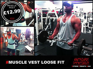 GYM VEST Bodybuilding Clothing heavy cotton strongman powerlifter stringer vest