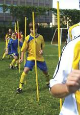 """set of 8 spiked slalom poles 63"""" tall speed agility training aid soccer coaching"""