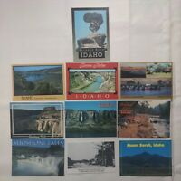 Lot 10 Vintage Idaho Postcards Shoshone Falls Glenns Ferry Snake River Mt Borah