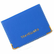 LEATHER OYSTER TRAVEL CARD BUS PASS HOLDER WALLET CARD COVER CASE BLUE By PANAAZ