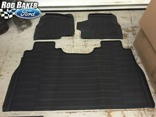OEM NEW 15-17 Ford F-150 Crew Cab TRAY Floor Mat Kit BLACK Rubber All Weather