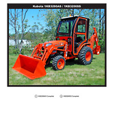Complete Curtis Hard Sided All Steel Cab System for Kubota 3200 1KB32AS