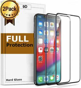 2x 9D Glas für iPhone 12 / 12 Pro Max / 12 Mini Panzerfolie Schutzfolie Hartglas