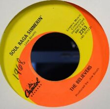 SOUL FUNK The Believers SOUL RAGA COOKIN' Capitol 45 Rare Psych SITAR! Joe South