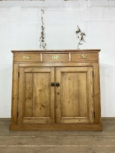 English Country House Pine Sideboard C.1880
