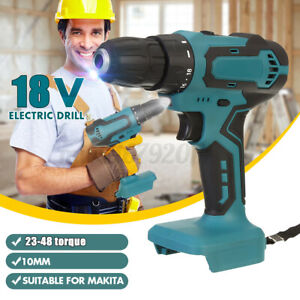 18V Industrial Cordless Electric Drill Bit Impact Wrench Driver Screwdriver