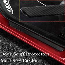 Carbon Fiber Car Scuff Plate Door Sill Cover Panel Step Protector Guard 49CM d