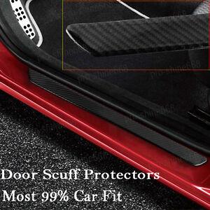 2x Carbon Fiber Car Auto Scuff Plate Door Sill Guard Cover Step Protector 49CM b
