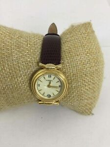 Fossil Brown Leather Date Wrist Watch