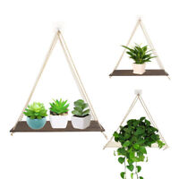 Hanging Plant Stand Planter Shelves Wooden Flower Pot Organizer Storage Rack