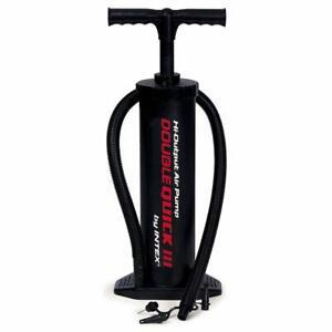 Intex Luftpumpe 68615 Handpumpe Pool Pumpe Standpumpe für Matratzen + Adapter