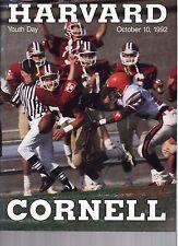 1992 Harvard vs Cornell Football Program  - Ex Mint