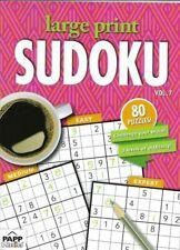Large Print Sudoku 80 Puzzle Vol 4 Easy Medium Expert Fast Ship Papp