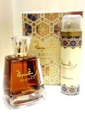 Raghba By Lattafa Perfumes 100ML  Unisex Vanilla/Balsamic/musky/oudi+50ml Deoe E