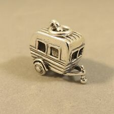 .925 Sterling Silver VINTAGE Style TRAVEL TRAILER Charm NEW Canned Ham 925 VH29