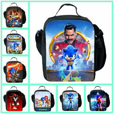 Sonic The Hedgehog Boys Insulated Lunch Hand Bag Children Personalised Hand Bag