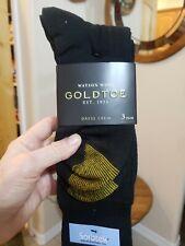 Gold Toe Men's Merino Wool Blend Sorbtek Moisture Management Yarn Socks -3 Pairs