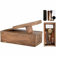 Wood Wooden Boot Cleaning Set and Box FSC 100%