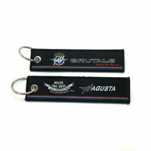 Motorcycle Embroidery Key Holder Chain Collection Keychain For MV AGUSTA BRUTALE