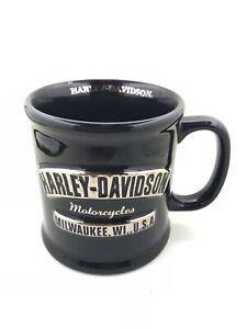 Harley Davidson Motorcycles Milwaukee Wisconsin Black Coffee Mug Large Cup