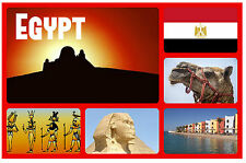 EGYPT - SOUVENIR NOVELTY FRIDGE MAGNET - SIGHTS & FLAG - BRAND NEW - GIFT