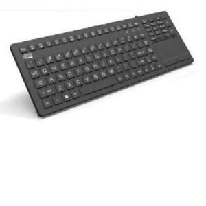 Adesso Akb-270ub Antimicrobial Waterproof Touchpad Keyboard - Cable - Black -