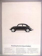 Volkswagen VW Beetle Bug PRINT AD - 1964