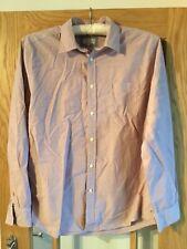 Pink / Burgundy Striped Cotton Howick Shirt Size XL