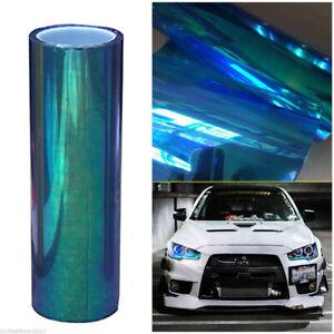 "12""x78"" Chameleon Colorful Blue Car SUV Headlight Taillight Vinyl Tint Film Wrap"
