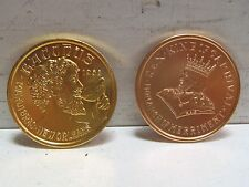 Pair of Vintage Mardi Gras Coins Tokens Medals 1965 1970 King Carnival Bacchus
