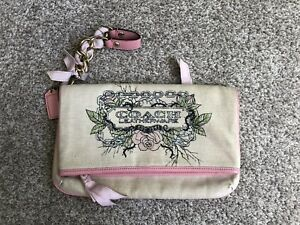 Coach Tattoo Floral Foldover Ribbon Chain Clutch 42671