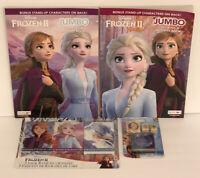 4pc Disney Frozen II Gift Set Jumbo Coloring & Activity Books Crayons, Stamp Set