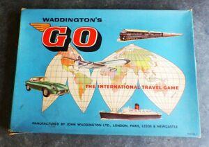 Vintage WADDINGTON'S GO The International Travel Game Board Game