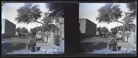 Algeria Chemin Da Ferro Foto Negativo Stereo Placca Da Lente Vintage c1920