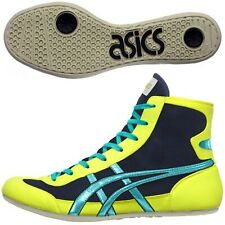 Asics Japan Wrestling Boxing Shoes Ex-Eo Navy Yellow Blue Twr900 Flat Sole 038