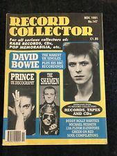 record collector magazine Nov 1991 David Bowie, Prince, The Shamen,