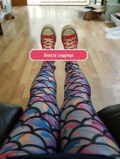 Multi Mermaid Colourful  Dance Yoga Woman's Stretchy Workout Fitness Leggings
