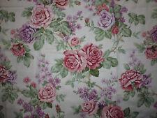 tissu textile ameublement imprimé fleur rose style anglais 67x133