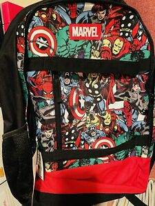 Bioworld Marvel Avengers Comic Backpack One Size / New With Tags