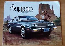 PLYMOUTH SAPPORO 1978 CATALOGO DEPLIANT BROCHURE USA NOS